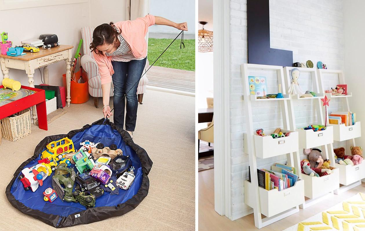 10 formas originales de organizar los juguetes de los for Muebles para guardar juguetes
