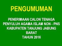 Pengumuman Penerimaan Calon Tenaga Penyuluh Agama Islam Non-PNS