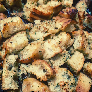 Golden Home Made Croutons