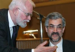 Photo of Lars Hedegaard with Daniel Pipes
