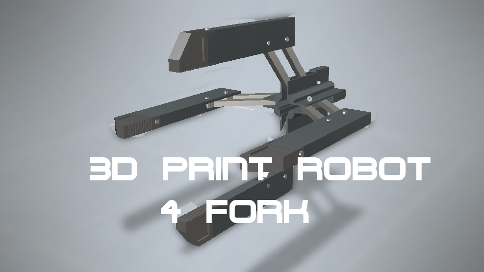 CYTROMIX: how to make 3d print 4 forks robot arm