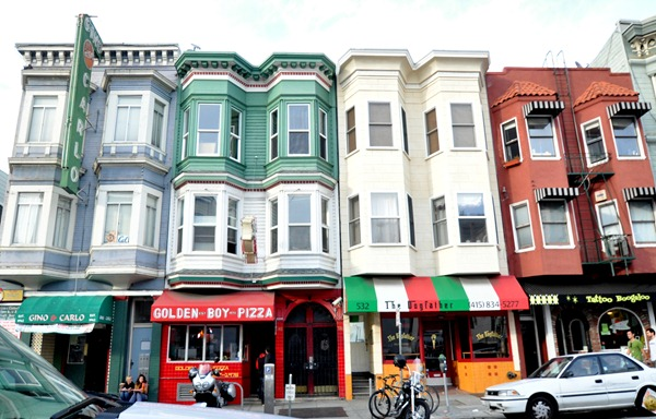 San Franciscans And Tourists Alike Not Only Travel To Little Italy For The Amazing Food But Also Admire Colorful Awningurals That