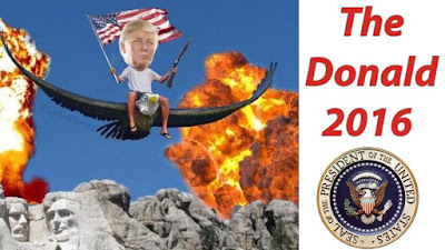 Donald Trump flying an eagle meme picture