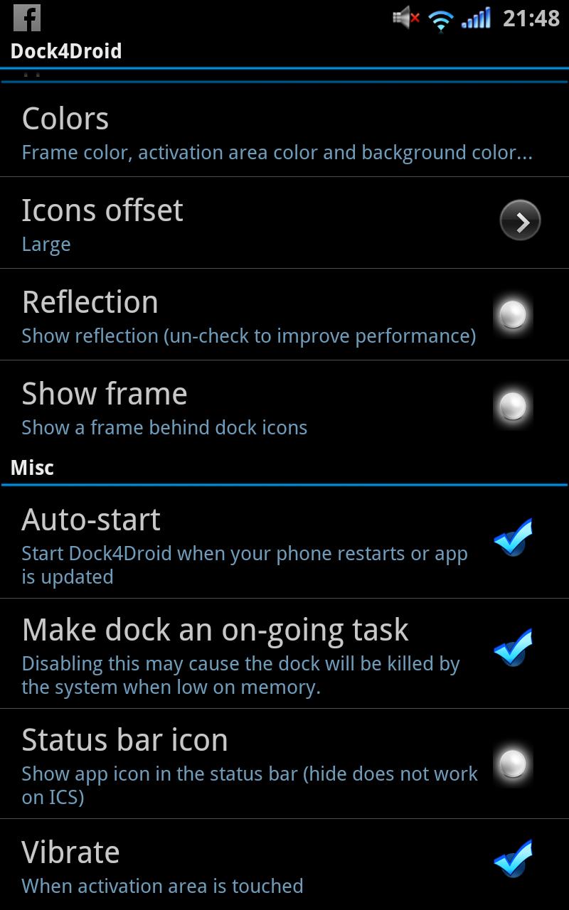 某魚的刷機心得總合(Android): Dock4Droid - 方便好用的快速捷徑