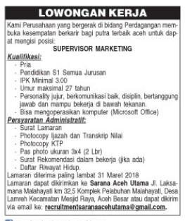 Serambi Indonesia Edisi 13 Maret 2018