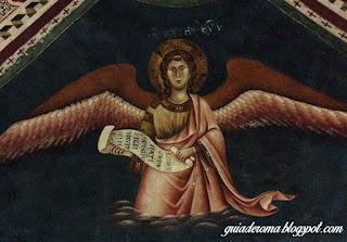 Afresco de Medieval de Anjo, Monastério de São Bento