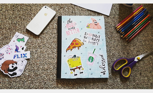 DIY SCHOOL/COLLEGE NOTEBOOK!!