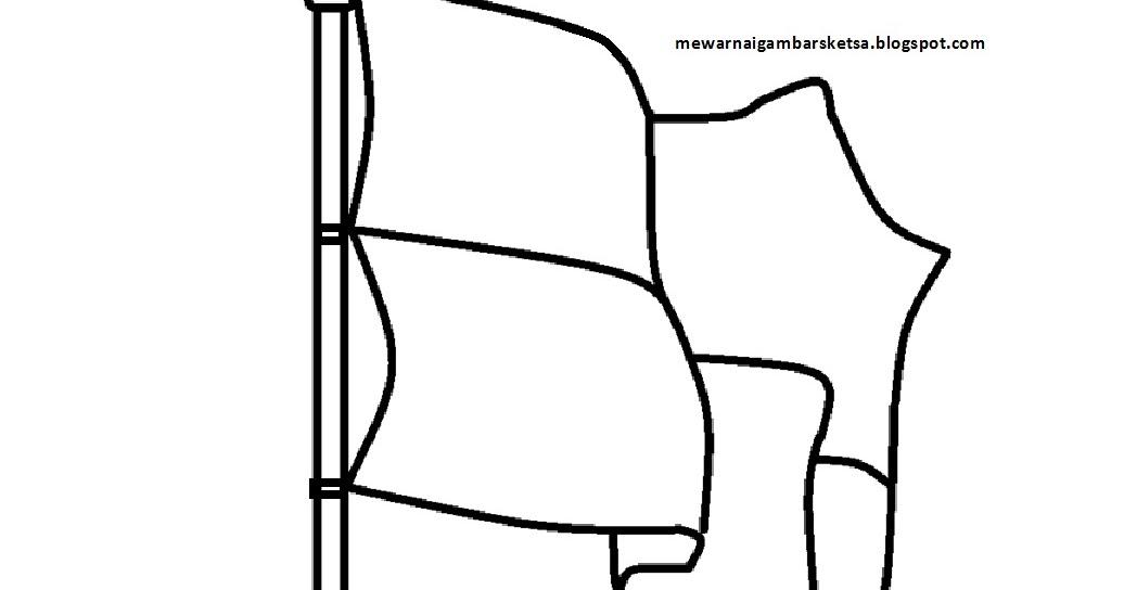 Mewarnai Gambar Mewarnai Gambar Sketsa Bendera Merah Putih 6