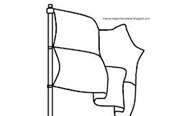 Catatanku Anak Desa Gambar Mewarnai Bendera