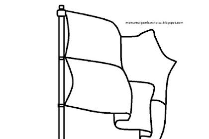 Gambar Bendera Untuk Mewarnai