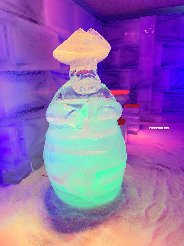 One of the many ice sculptures inside SnoWalk