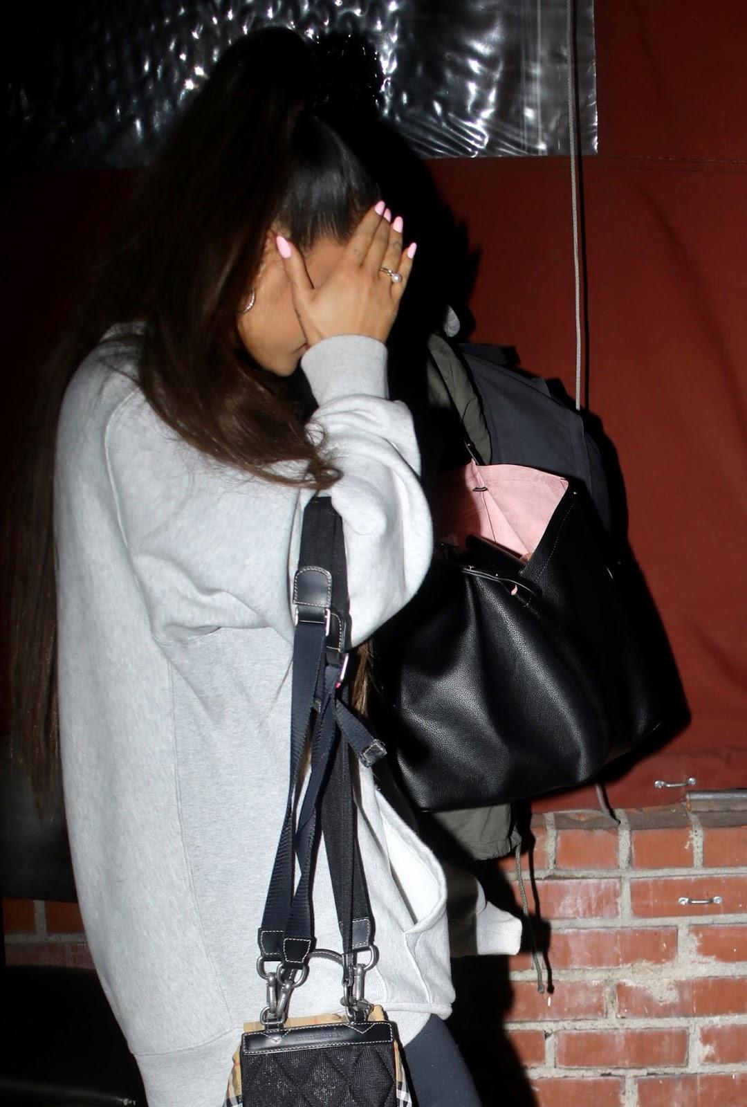 Ariana Grande leaving Pace Restaurant in LA - 02/08/2019