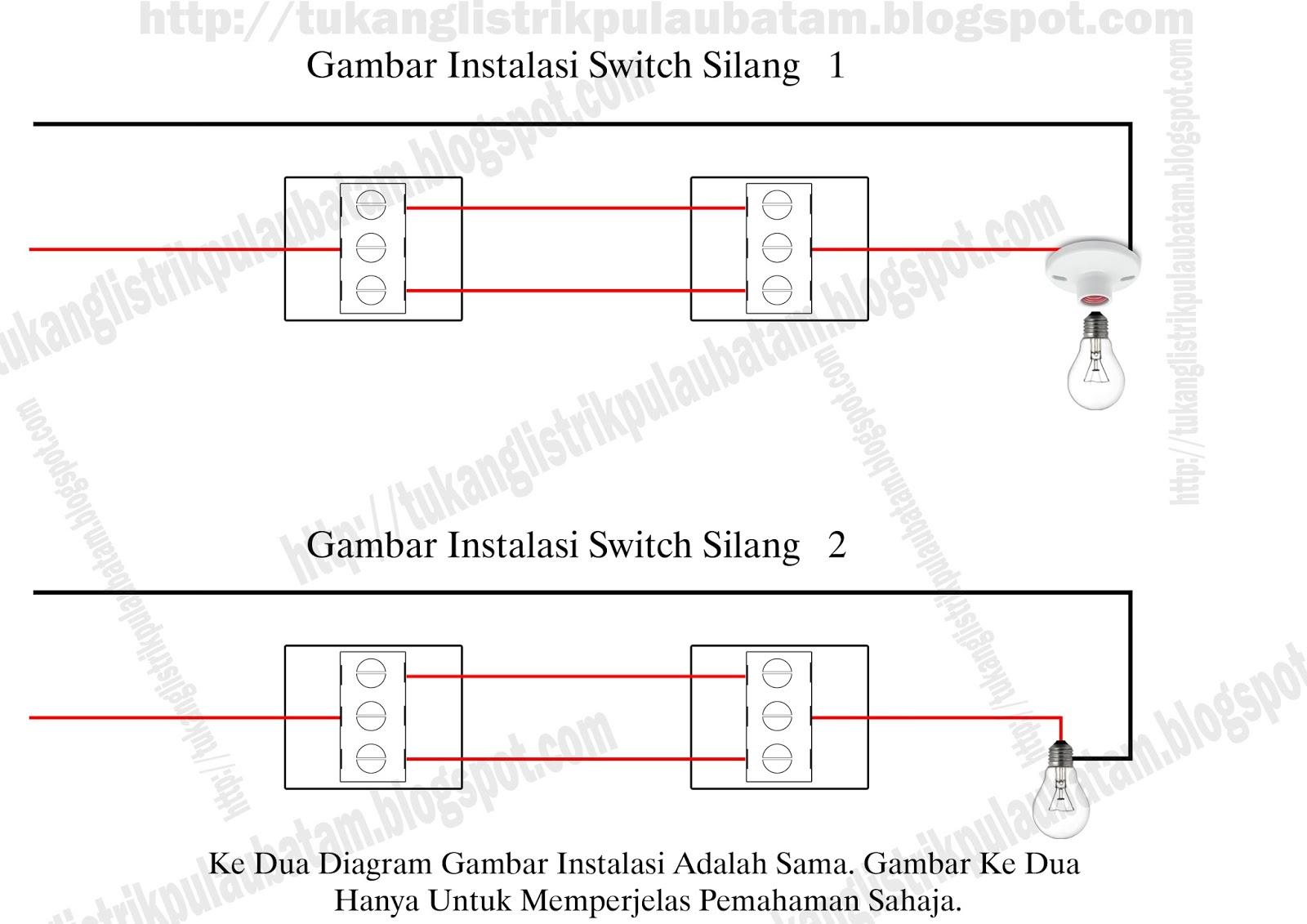 Cara Memasang Switch Silang