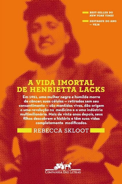 Capa de A Vida Imortal de Henrietta Lacks