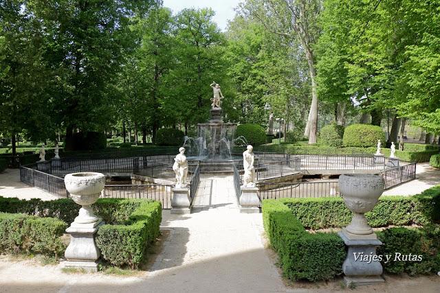 Fuente de Hércules e Hidra, Jardín de la Isla, Aranjuez
