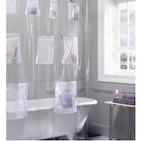Rangez facilement vos affaires de douche avec ce rideau