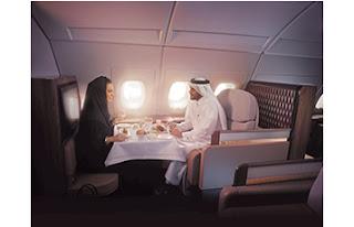 Source: Qatar Airways. In first class.