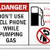 لماذا لا نستخدم الهواتف المحمولة في مجطات البنزين ؟ إنشاء الحوادث هي مجرد خرافة لا أساس لها ؟