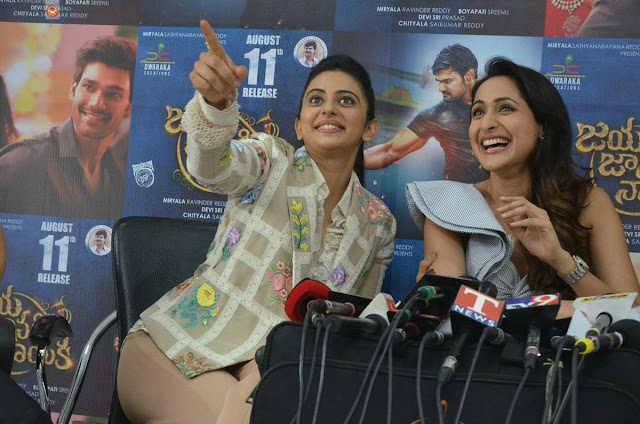 Jaya Janaki Nayaka Telugu Movie Success Meet Photos