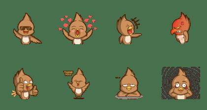 Line Creators Stickers Manuk Animated
