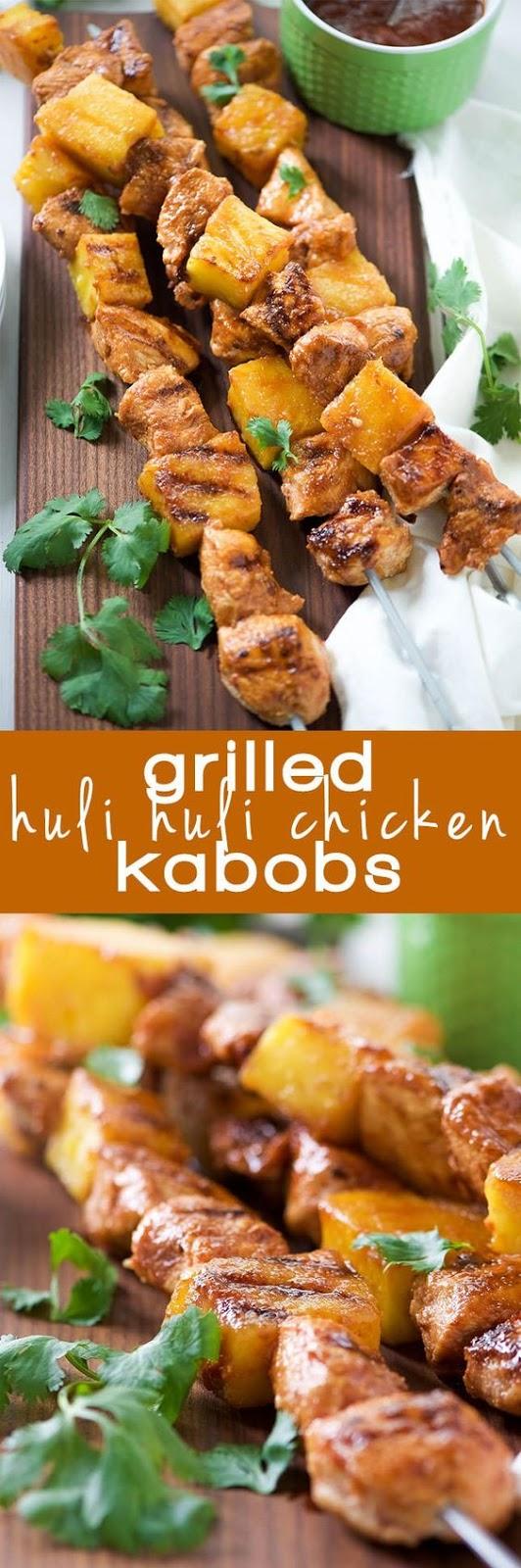 Grilled Huli Huli Chicken Kabobs