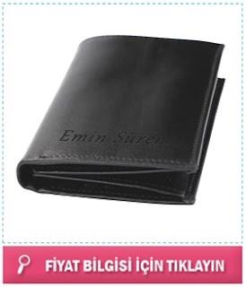 kişiye özel siyah isim yazılı cüzdan
