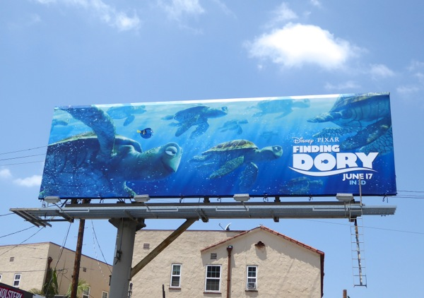 Finding Dory movie Turtles billboard