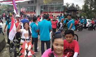 Rally Sepeda meriahkan HUT RI ke 73 di Desa Pangsan