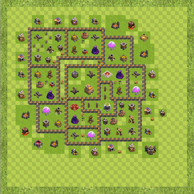 War Base Town Hall Level 9 By Darrison Hogan (updated verison TH 9 Layout)