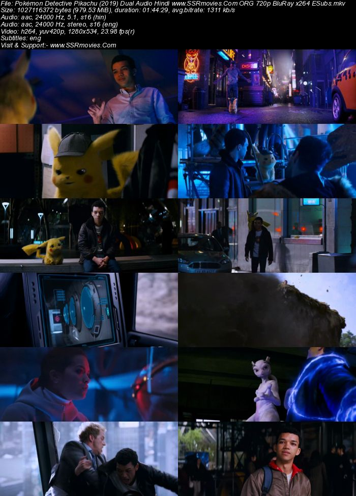Pokemon Detective Pikachu (2019) Dual Audio Hindi ORG 720p