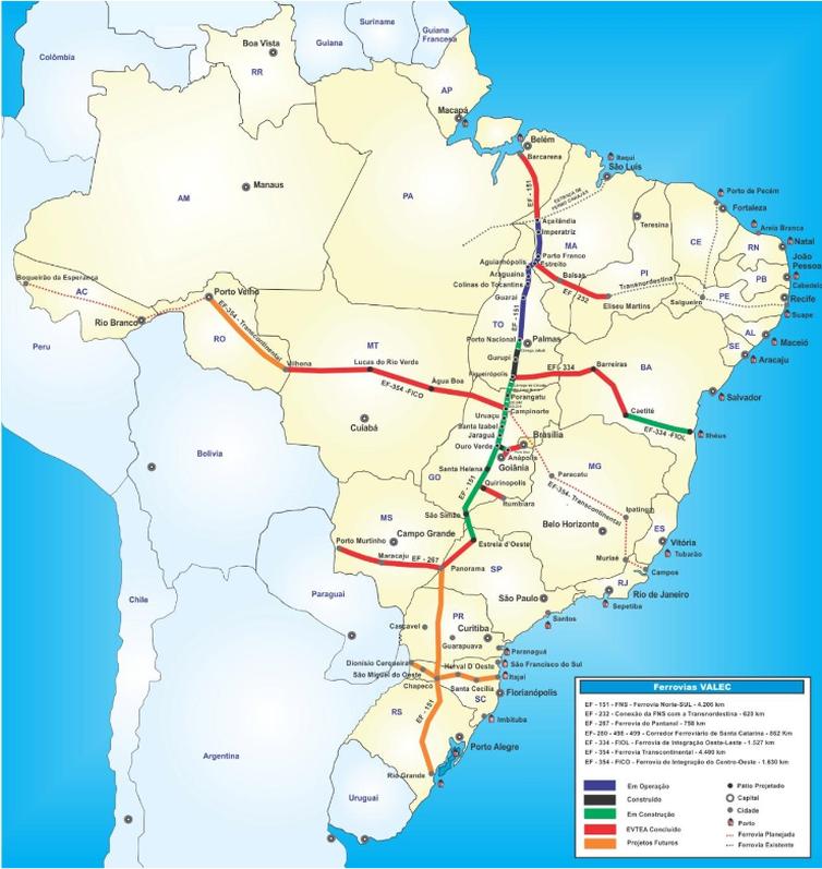 91e606bc6 Bolsonaro anuncia leilão da Norte-Sul por R$ 1,5 bilhões