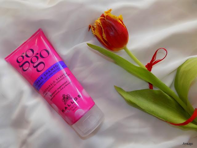 GoGo Repair Hair Shampoo- regenerujący szampon do normalnych, suchych i łamiących się włosów, Kallos