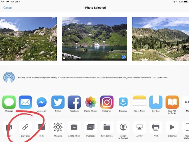 iOS 12 Can Generate iCloud Links Sharing Pictures