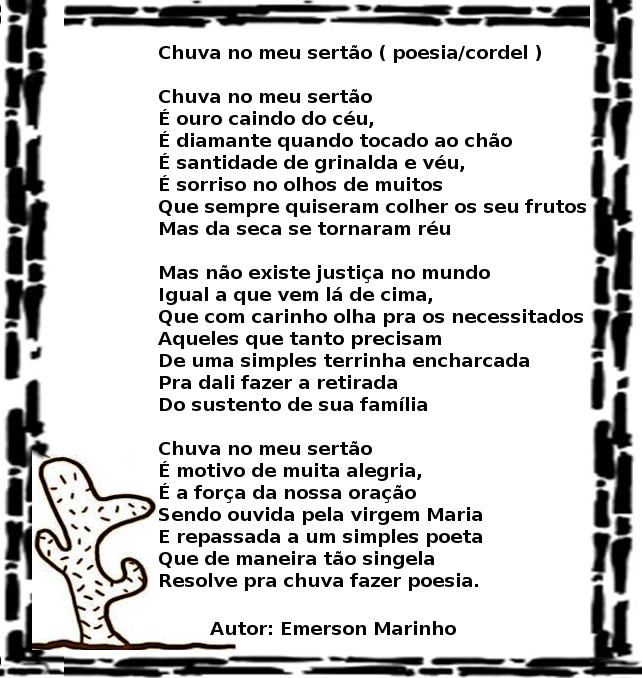 Chuva No Meu Sertao Poesia E Cordel Video Blog Adalberto