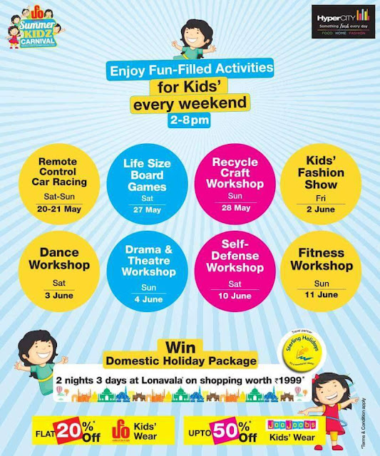 Interactive learning at HyperCITY Summer Kidz Carnival, this weekend