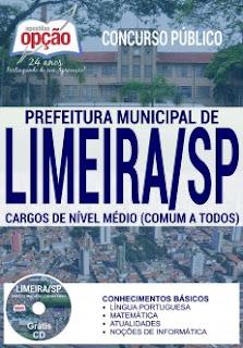 Apostila Prefeitura de Limeira SP para Cargo de Nível Médio