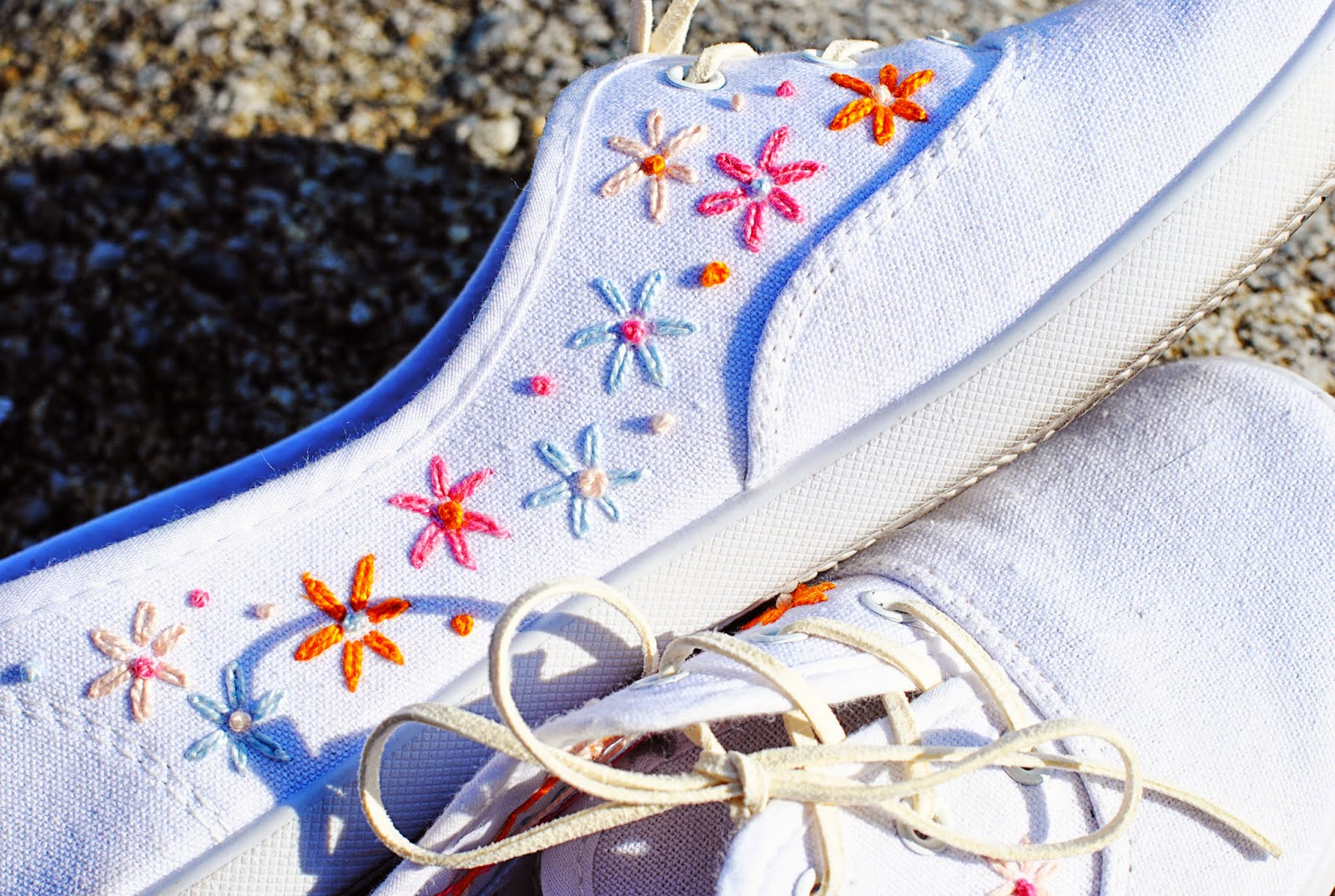 DIY Embroidered Canvas Shoes | Motte's Blog