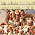 Top 3 Nuts For Health Benefits List of 2018