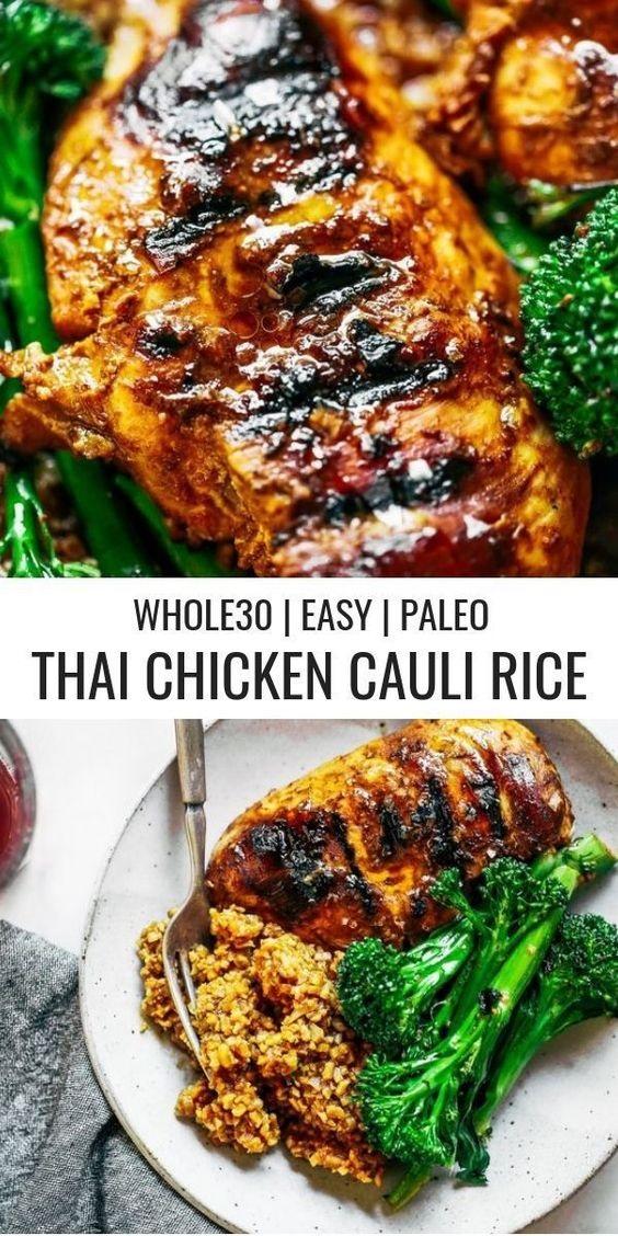Whole30 Thai Chicken Cauliflower Rice