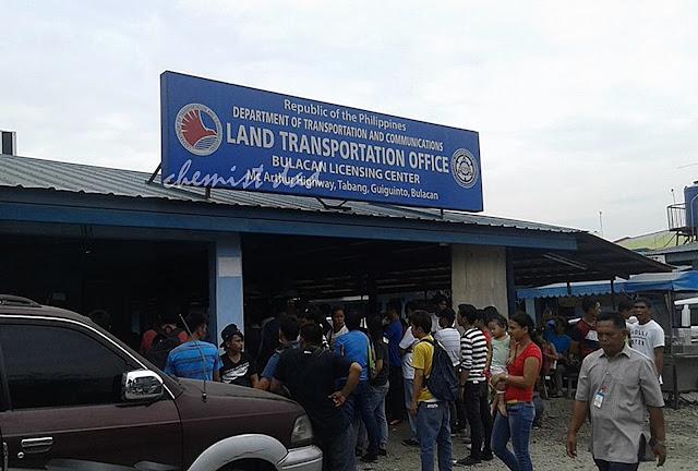 LTO-Guiguinto Bulacan, Driver's License renewal, LTO,
