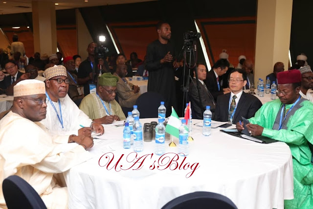Obasanjo, Atiku, Boni Yayi At The Gusuau Institute (Photos)
