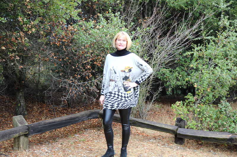 Andreas Wellness Notes Oversized Graphic Sweater From Eva Trends