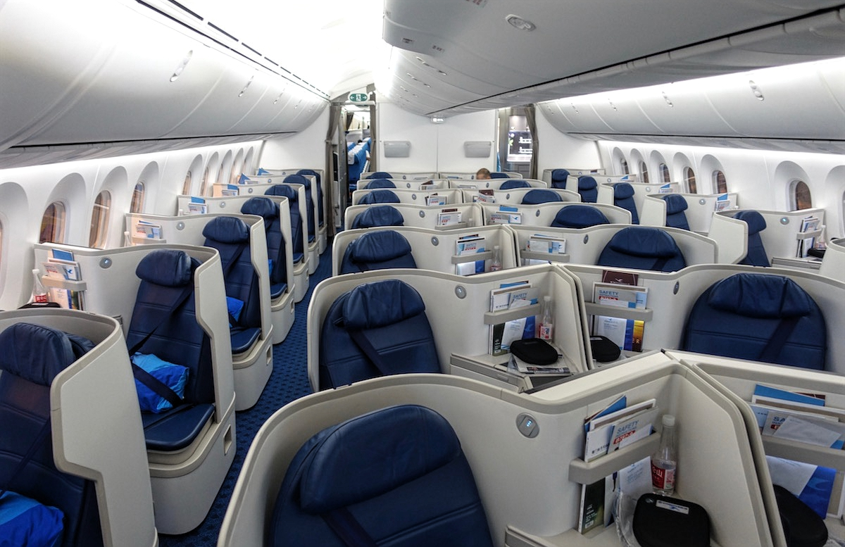 Boeing 787 9 Xiamen Airlines Business Class Interior