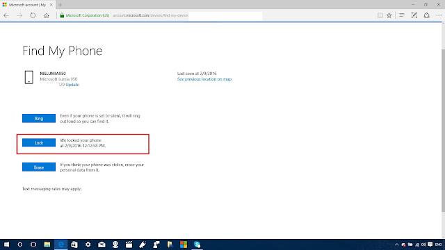 reset windows phone 8 password