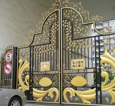 Home Wall Decoration: Luxury homes iron gates designs ideas. on Gate Color Ideas  id=84671
