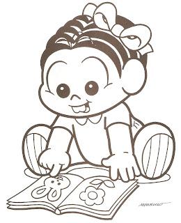 Mônica Baby livro de figuras