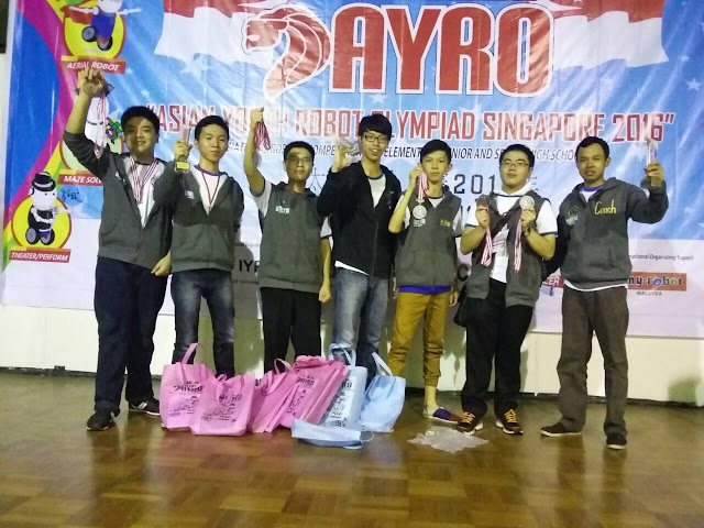 Lomba Robotik AYRO Internasional Singapura 2016 | Menang Lomba Robotik AYRO Internasional Singapura 2016