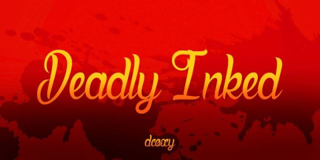 Deadly Inked Free Font