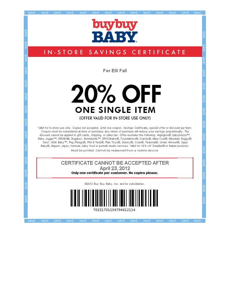 Buy Buy Baby Coupon-EXPIRED Things on My Mind - buy buy baby job application