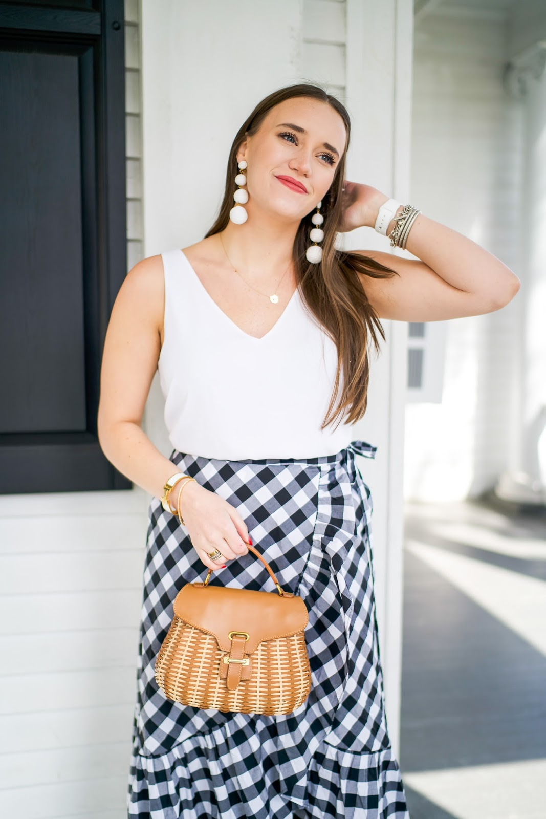 Bridal Shower Outfit styled by popular New York fashion blogger Covering the Bases